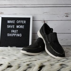 Sperry Canvas Upper Boat Shoes NWOT Sz 9.5